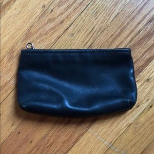 Small Black Leather Coach Pouch